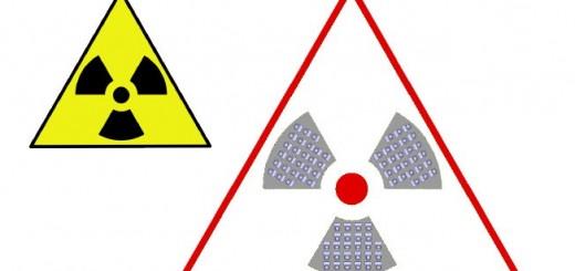Angelehnt an das Sympbol vor Radioaktivität ist das Warnzeichen vor Administratium - einschließlich sitzungs-Stühlen