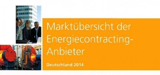 Ab sofort ist die Marktübersicht Energie Contracting Anbieter 2014 beim Forum Verlag erhältlich