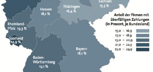 Zahlungsmoral in Deutschland - Quelle: DDMonitor