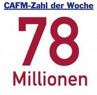 Die CAFM-Zahl der Woche #1 ist 78 Millionen