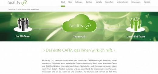 facility 24, das Angebot aus CAFM-Cloud-Lösung und begleitenden Dienstleistungen, hat eine neue Website