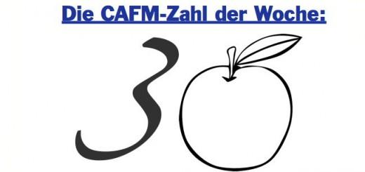 30 ist die CAFM-Zahl der Woche - für 30 gepflanzte Bäume, die allerdings (noch) nicht in einem CAFM Baumkataster stehen
