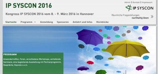 Die Konferenz IP Syscon lockt mit einem umfangreichen Programm zu GIS und CAFM
