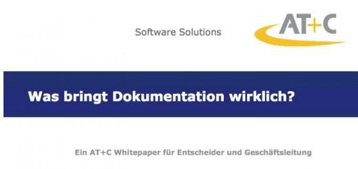 In einem Whitepaper erläutert AT+C die Vorteile digitaler Dokumentation
