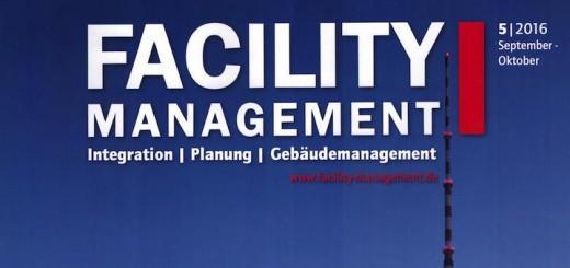 Fahrtreppen, Logistikflächen und Flächenaufmaß sind Themen in der jüngsten Ausgabe der Fachzeitschrift Facility Management