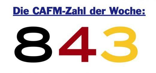 Die CAFM-Zahl der Woche ist die 843, für die Anzahl der Dokumententypen, auf die in der GEFMA 198 verwiesen wird