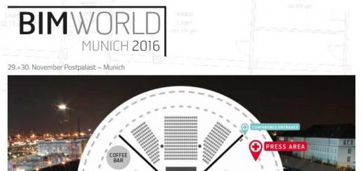 Die BIM-world findet am29. und 30. November im Postpalast in München statt