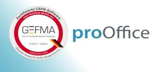 ProOffice von AED-Synergis ist jetzt auch GEFMA 444 zertifiziert