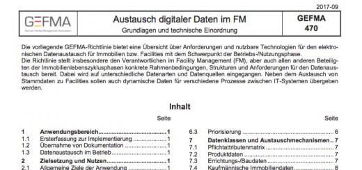 Die neue Richtlinie GEFMA 470 gibt Hilfestellung für den Austausch digitaler Daten im Facility Management