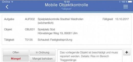 Mobile Objektkontrolle ist die neueste App von Axxians Infoma