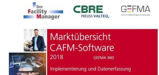 Mehr Integratoren, mehr CAFM-Hersteller: Die Marktübersicht CAFM-Software 2018 ist wieder ein wenig gewachsen