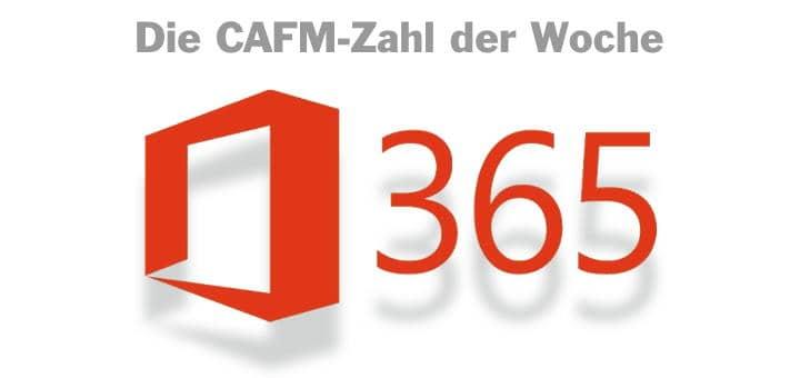 Die CAFM-Zahl der Woche ist die 365 – weil sich Office 365 nicht unbedingt mit der DSGVO verträgt