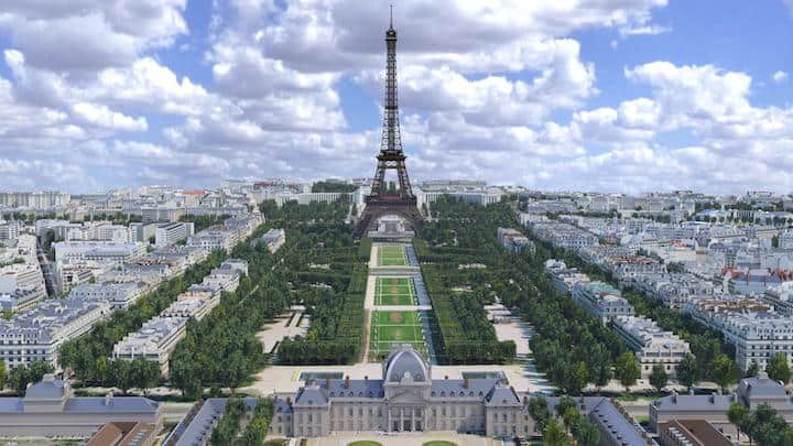 Autodesk hat die Umgebung des Eiffelturms in Paris im weltgrößten BIM-Modell gestaltet (klicken für große Ansicht)