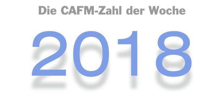 Die CAFM-Zahl der Woche ist dieses Mal die 2018 – für die kleinen und großen Wandlungen bei der GEFMA