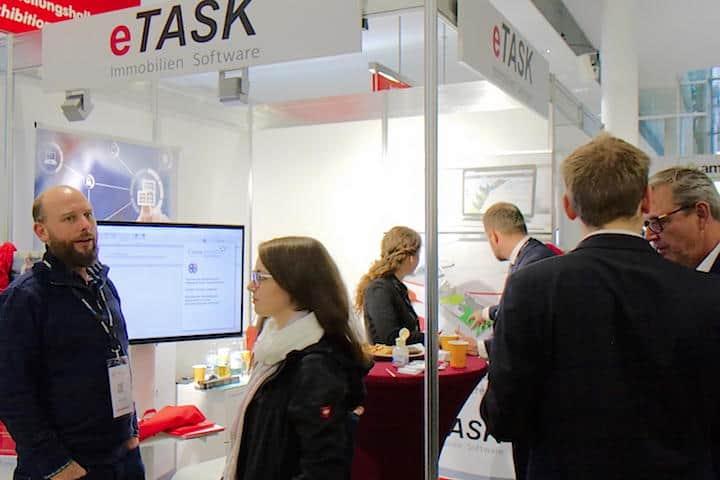 Dynamisches Mapping war ein Thema von eTask auf der BIM World Munich 2018