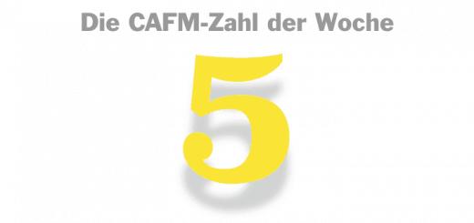 Die CAFM-Zahl der Woche ist die 5 - für das fünfte Jahr CAFM-Splitter in der Facility Management