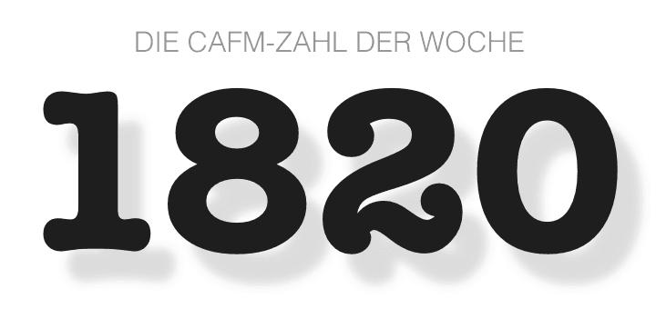 Die CAFM-Zahl der Woche ist die 1820 für die ungefähre Anzahl verlorener Bilder auf CAFM-News