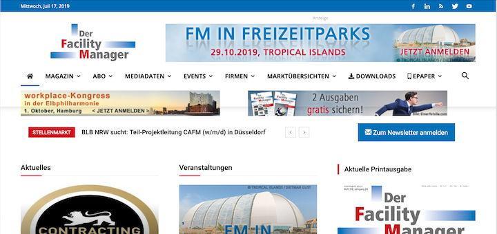 Das Fachmagazin Der Facility Manager hat das Design seiner Website überarbeitet